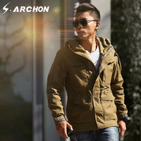 S ARCHON M65 Windbreaker Tactical Jacket Men S Clothing Winter Waterproof Hoodie Pilot Coat UK Field