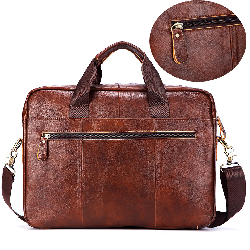 6c232615bc Brand Men Genuine Leather Handbags Large Leather 16