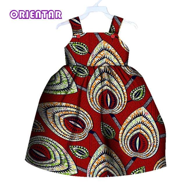 b6080c9255 US $37.99 |Cute Kids Girl African Dress Children Print Floral Sleeveless  Dress Bazin Riche Clothes Summer Girls Casual Cotton Dresses WYT80-in  Africa ...