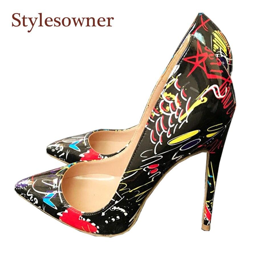 À Belle 8cm Hauts Noir Heel Nouveau 33 12cm Talon Mince Chaussures Heel Talons Designer Taille 2018 Stylesowner 44 Pointu Heel Coeur Sexy 10cm Bout Pompes Rouge qwYSXaWx8