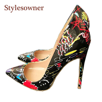 cc0cbfbe0 Stylesowner 2018 New Designer Red Heart Black High Heeled Pumps Shoes Sexy Pointed  Toe Thin Heel