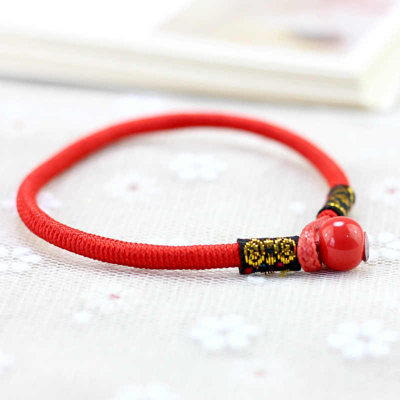 Original New Cute Chinese Style Red String Lucky Bracelet For Women Ceramic Bead bracelet Bangle Girls Lucky Jewelry Lovers Gift