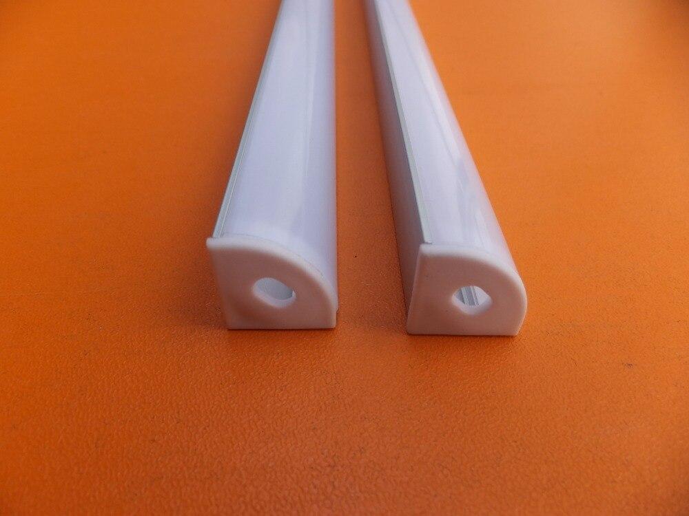 frete gratis 1 m pcs canto levou perfil de aluminio tira conduzida canal para 3528 5050