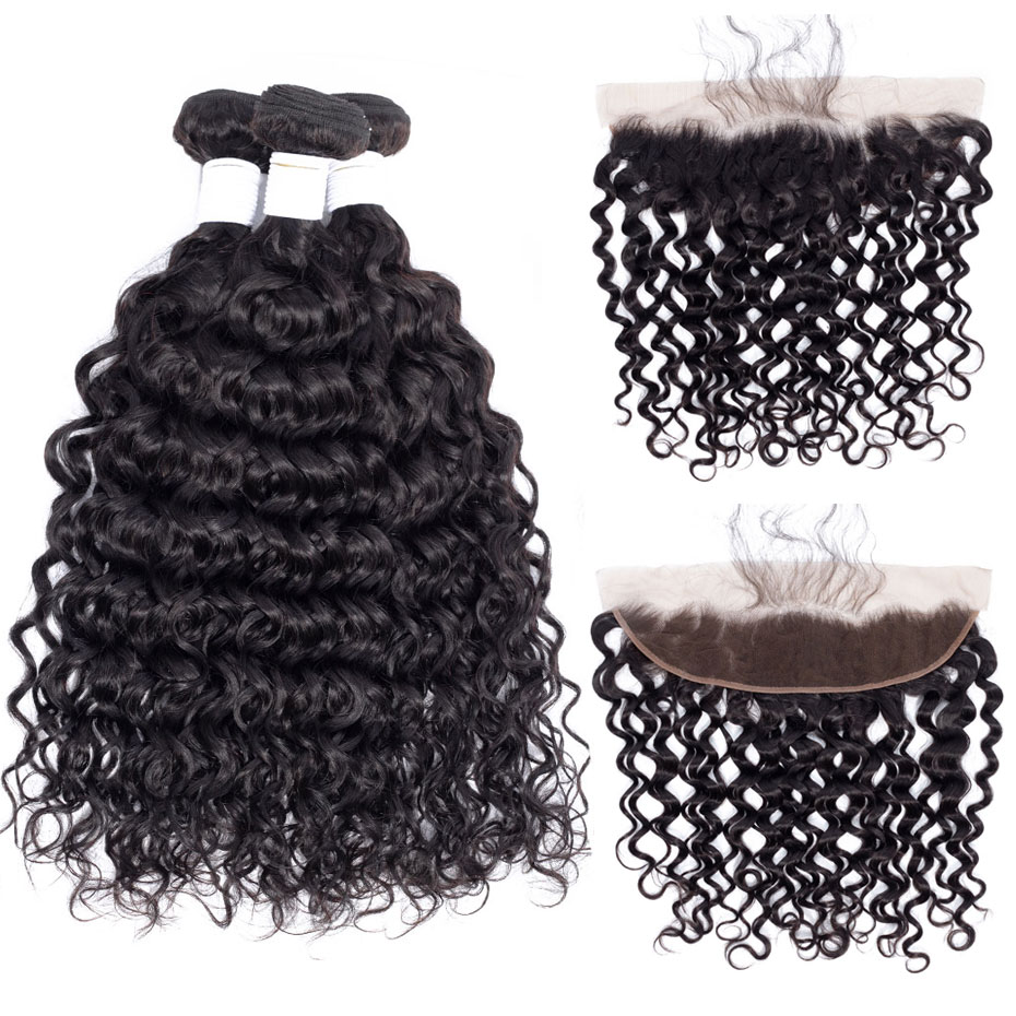 Careful Alipearl Kinky Straight Hair Bundles With Frontal Closure Brazilian Yaki Human Hair Bundles With Frontal 13x4 Freepart Remy Hair Human Hair Weaves