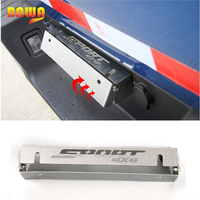 HANGUP Chrome Steel Front Rear License Plate Bracket Holder Decoration Stickers For Ford F150 2015 Up Car Styling