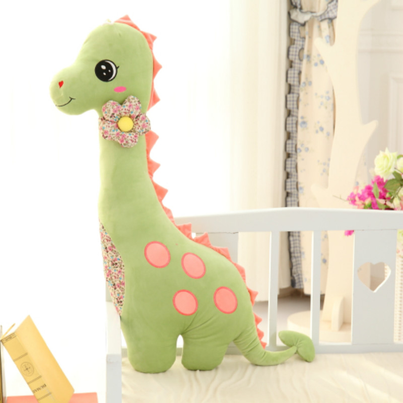 Baby dinosaur Toy girl boys Sleep Bed Soft Appease Baby Pillow Baby Calm Doll Kids Portable Bedroom Bedding Stuffed slack Cattle