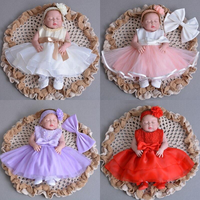 15 Colors! Baby Dress Flower Girl Dresses Newborn Clothes Vestido Infantil New Born Princess Birthday Party Christening Gown