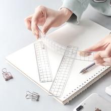 TUNACOCO 2pcs/set  15cm 18cm 20cm Transparent Ruler Acrylic Ruler Stationery Drawing schiool office Supplies Qt1710036 panda ruler 15cm