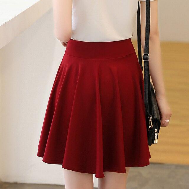 Surmiitro Plus Size 4XL Shorts Skirts Womens 2020 Summer A line Sun School High Waist Pleated Skirt Female Korean Elegant Skirt 3