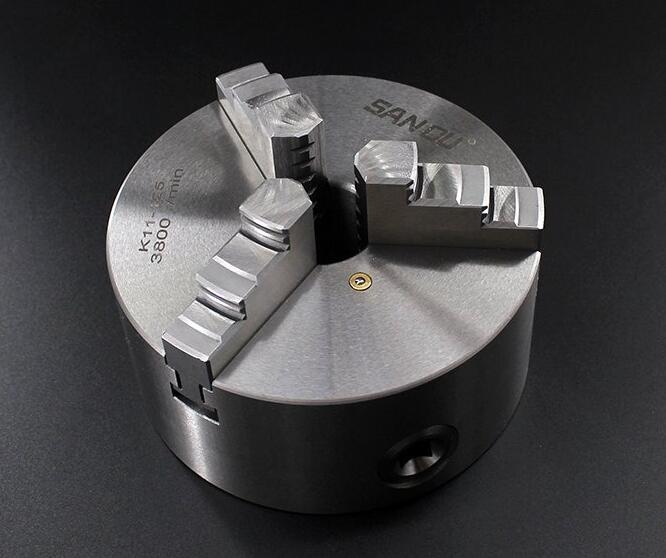 3 Jaw Lathe Chuck 80mm 100mm 125mm 130mm 160mm 200mm Self-centering Metal Chuck CNC Metalworking Tool