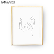 Sketch Wall Art Line Drawing Print Minimalist Simple Fashion Canvas Poster Black White Painting Love Quote Wall Picture Decor майка print bar drawing a line