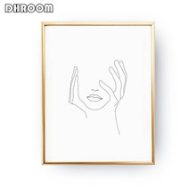 Sketch Wall Art Line Drawing Print Minimalist Simple Fashion Canvas Poster Black White Painting Love Quote Wall Picture Decor(China)