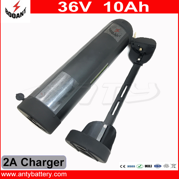 Water Bottle Style Electric Bicycle Battery 36V 10Ah Lithium ion Battery 36V For eBike Motor 800W With 42V 2A Charger 30A BMS free customs taxes 36v 10ah li ion battery 36v 10ah water bottle lithium battery 36v 10a battery for ebike with bms and charger