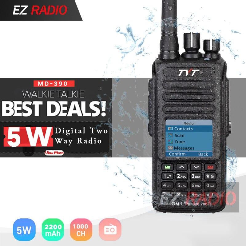 TYT MD-390 DMR Digital Walkie Talkie MD-UV390 Dual Band TYT DMR Optional GPS IP67 Waterproof Dustproof Upgrde Of MD-380 MD-UV380
