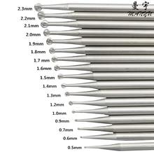 FREE SHIPPING round burs 1# 005-023, 6 pcs/ box, 4 boxs/ bag, RPM>40000r/min, drill polishing machine, jewelry tools цена и фото