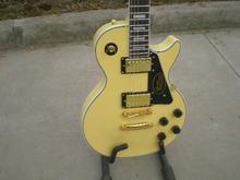 Kostenloser Versand Custom Shop Les Randy Rhoads Signature LP Ebenholz Griffbrett Gelbe Elektrische Gitarre