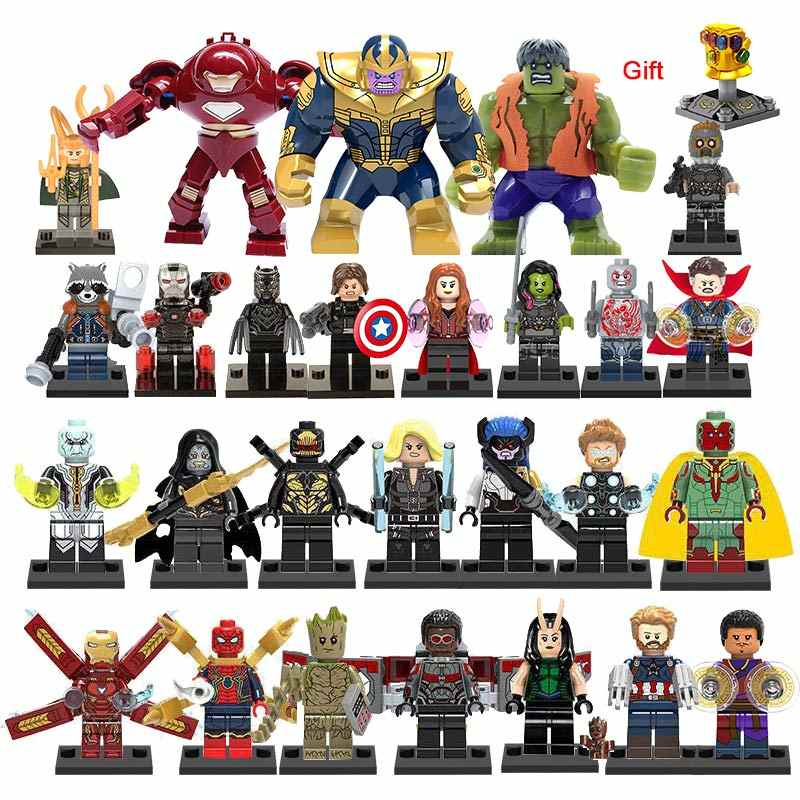 41 sztuk/partia Super Heroes Building Block lego Marvel Avengers 4 czarna wdowa kapitan Iron Man tony stark Thanos