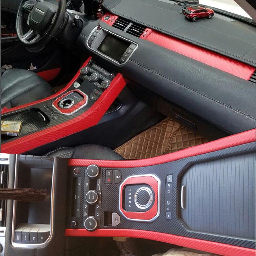 Для Land Rover Range Rover Evoque внутренняя Центральная панель управления дверная ручка наклейки из углеродного волокна наклейки аксессуары для стайлинга автомобилей