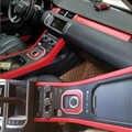Para Land Rover Range Rover Evoque Interior Panel de Control Central manija de la puerta pegatinas de fibra de carbono calcomanías accesorios de diseño de coche