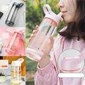 Новая уличная бутылка для воды с соломинкой, спортивные бутылки, экологически чистая с крышкой, походная и кемпинговая бутылка для воды, неп...