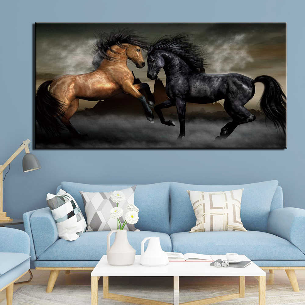 Home Decor Canvas Painting Animal horse 1 Piece Picture Wall Art Prints Modern Modular Cuadros Poster For Living Room