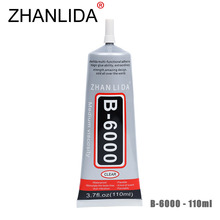 ZHANLIDA B6000 110ml Epoxy Resin Multi Purpose Sealant for Jewelry Rhinestone Glass Mobile Rhinestone B-6000 Glue Gun