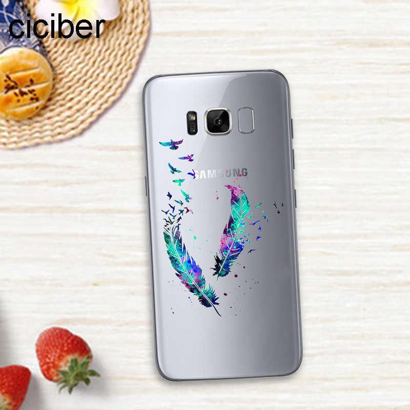 Ciciber ananas Flamingo jednorożec Panda w przypadkach, Samsung Galaxy S7 krawędzi S8 S9 Plus J5 J7 2016 uwaga 8 okładka miękkie etui z TPU na telefon