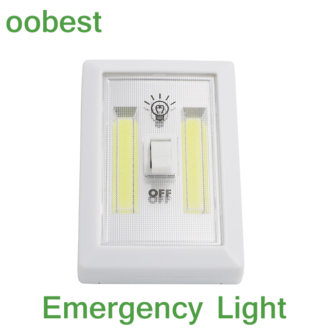 Oobest emergency lamp cob light switch control night light wall oobest emergency lamp cob light switch control night light wall light kitchen corridors pack portable cordless mozeypictures Choice Image