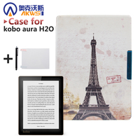 Magnetic PU Leather Cover Case Protective Cover Skin For 2014 Kobo Aura H2o 6 8 Ereader