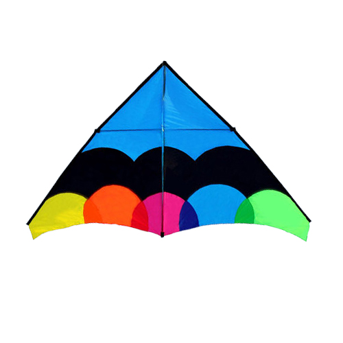 New Arrive Outdoor Fun Sports 2.8 m Multicolor Delta Kite With Handle & Line Good Flying