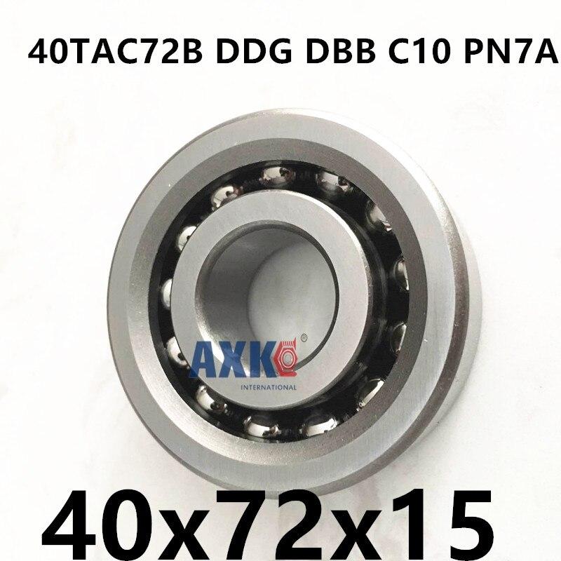 2018 Rolamentos Rodamientos 1group 40tac72b Ddg Dbb C10 Pn7a 40x72x15 Axk High Speed Load Capacity Ball Screw Support Bearings