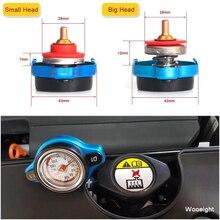 Auto Motorrad Styling D1 Spec Thermo Kühler Kappe Tank Abdeckung Wasser Temperatur Gauge mit Utility Sicher 0,9 Bar/1,1 bar/1,3 Bar
