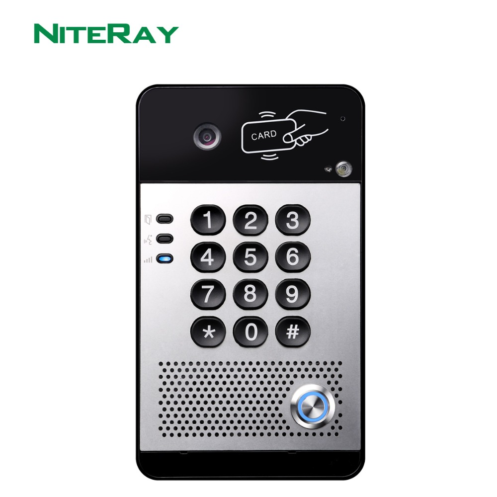 купить IP Door Bell Voip Door Phone Intercom RFID Card Access Control System NiteRay Q520 по цене 20399.25 рублей