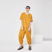 Оригинальный дизайн Летний Тонкий футболка и брюки костюм. M 5XL!