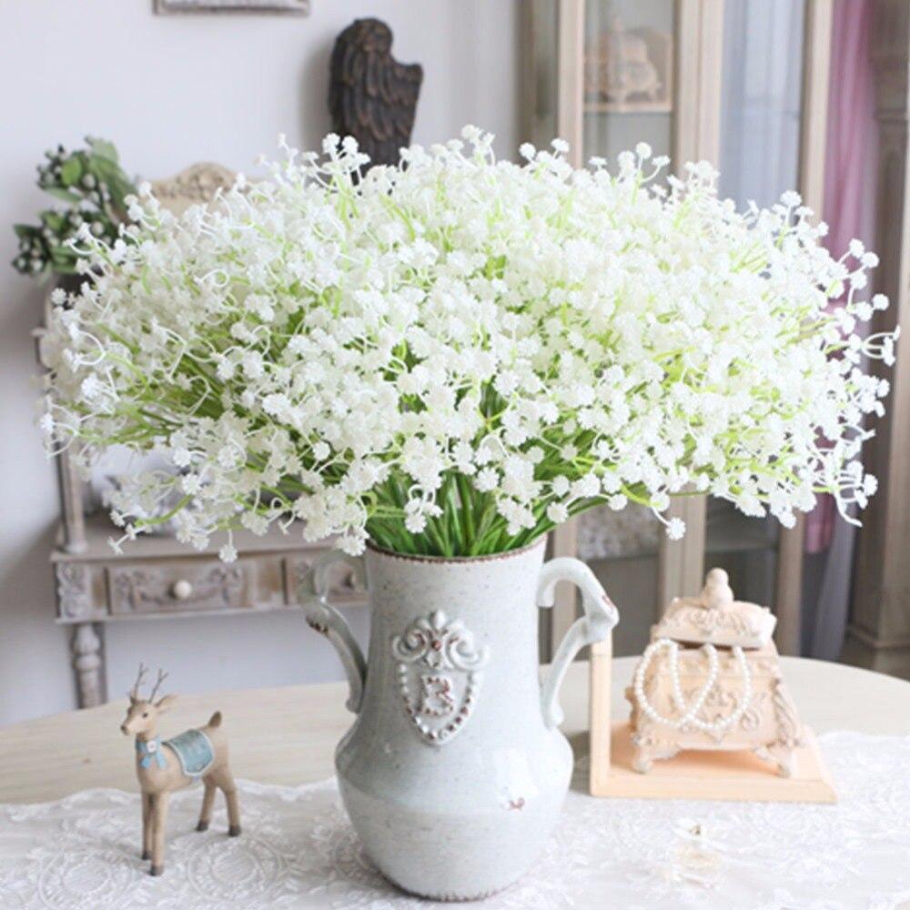 1pc Artifical Flowers Gypsophila Silk Flowers For Decoration Purple