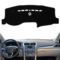 Anti UV Dashboard Cover Mat Pad Sun Shade Car Styling Instrument Protective Carpet For Ford Mondeo Fusion 2013 2018 Accessories