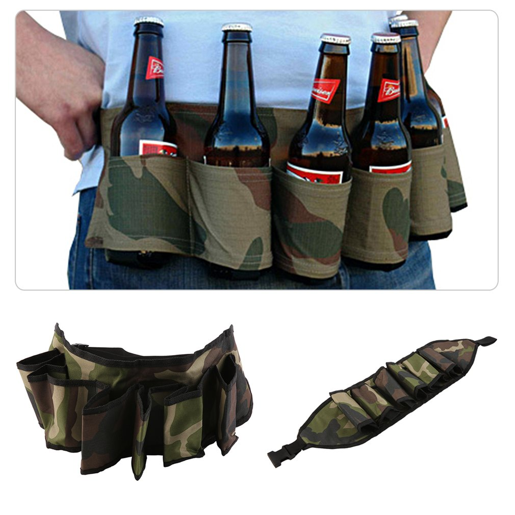 Party climbing Beer bag Holster Soda Drink Can Belt 6 Pack Holster Hiking bag Great For  ...