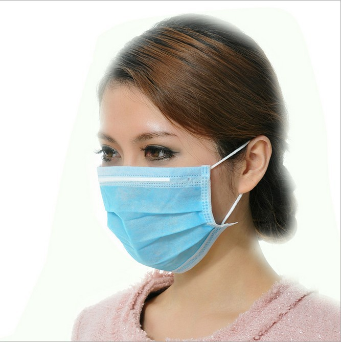 Disposable 3 Ear Dust Hoop Woven lot Ply Mask Mouth 50pcs Non