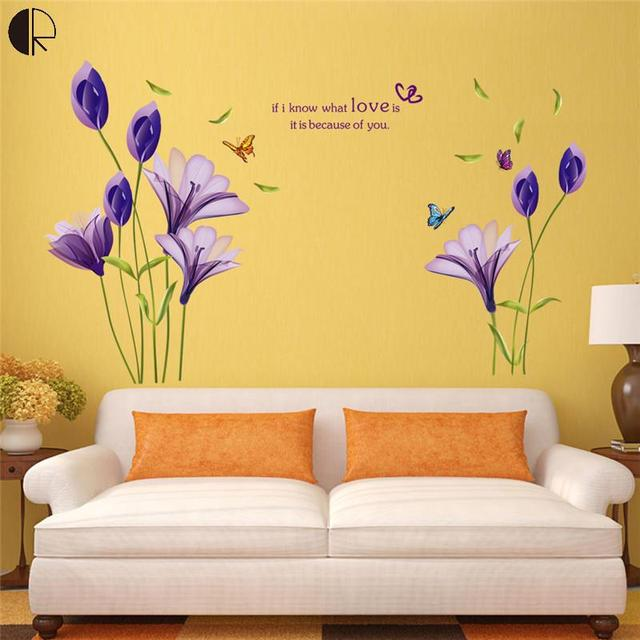 Elegant Liliya Love Home Decor Wall Stickers Creative DIY Wall ...