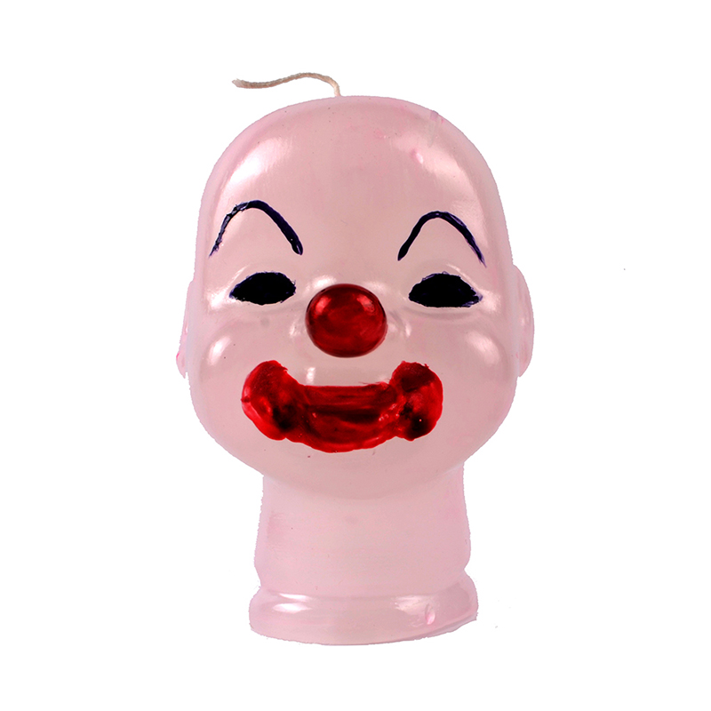 Nicole Silicone Soap Candle Mold 3D Baby Joker Doll Head Shaped DIY Handmade Craft Halloween Theme Mould