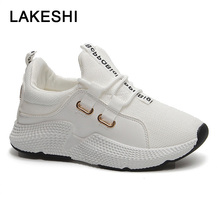 Sneakers Women 2018 Fashion Shoes White Sneakers Female Casual Chunky Shoes Ladies Platform Breathable Mesh Vulcanized Shoes