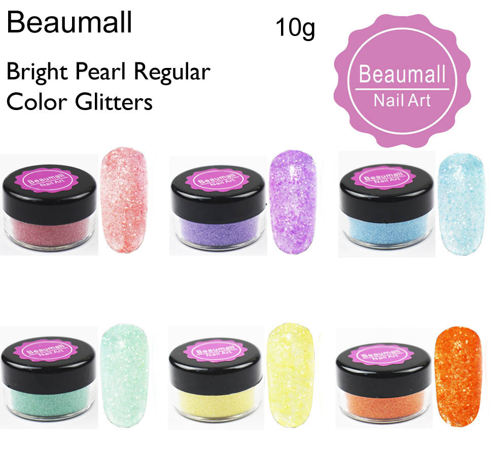 10gpot ,0.2mm (1128 008) Bright Pearl Regular Colors Glitters Dusts Dazzling Glitters Powders For Nail,Tatto Art,Make Up.