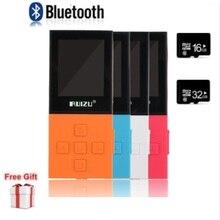 원래 ruizu x18 블루투스 스포츠 mp3 플레이어 8 기가 바이트 음악 오디오 플레이어 고품질 무손실 레코더 fm 블루투스 4.0 무료 선물