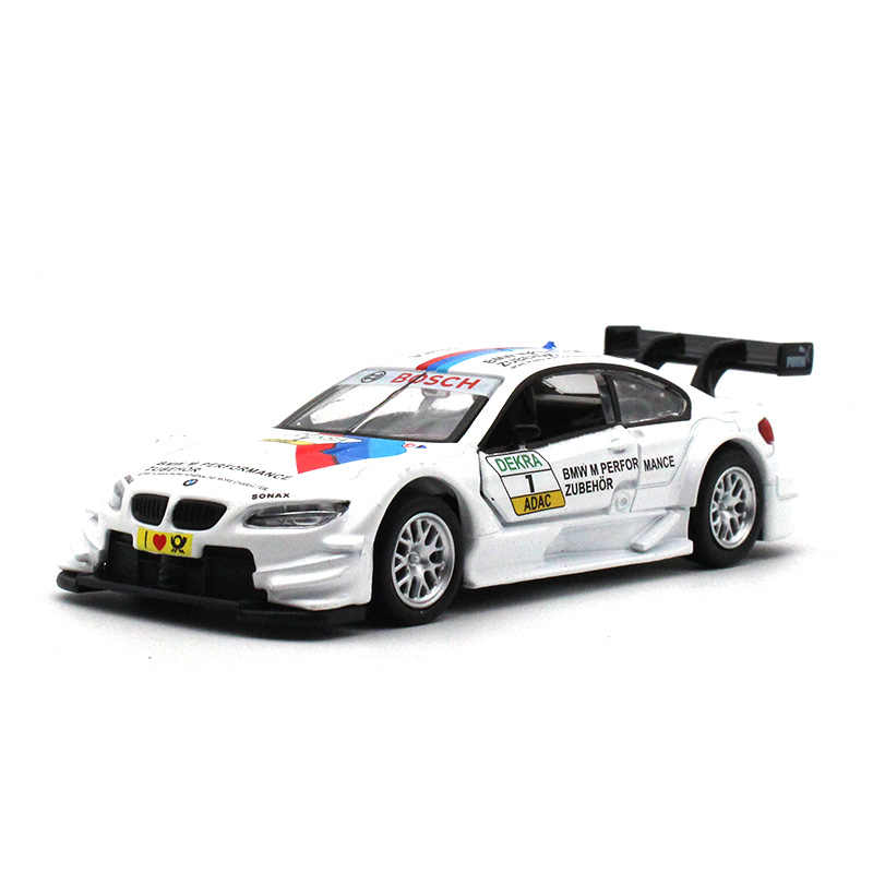 CAIPO 1:43 BM M3 Diecast Car model metallic material kids toys Collection decoration Open the door and pull back Toy car model