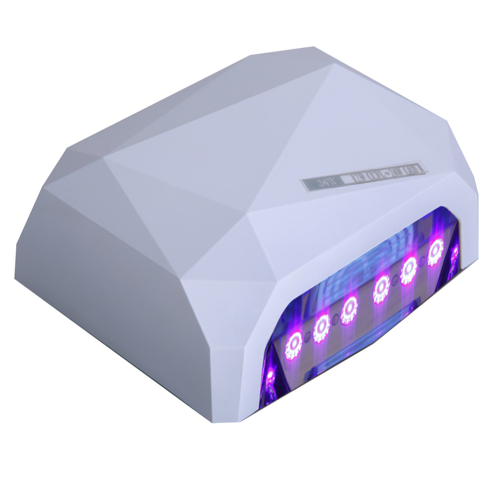 36W LED Nail Lamp Dryer for UV Gel Polish Nail Art Long Life LED CCFL Curing Tools UV Nail Lamp Diamond Shaped Drop Shipping mdskl 48w led uv lamp nail dryer self clocking a minute of rapid drying golden electric nail art tools exemption from postage