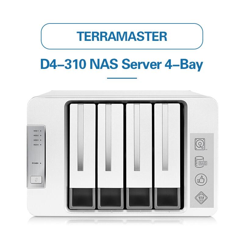 TerraMaster D4-310 USB3.0 Type C 4-Bay RAID Enclosure Support RAID 0/1/Single Exclusive 2+3 RAID Mode Hard Drive RAID raid 72