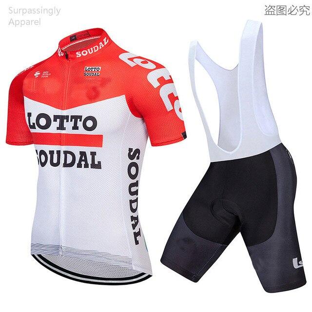 2018 Pro Team Red Maillot Racing Ropa Ciclismo Lotto Cycling Jersey Short  Set Men s Bike Clothing MTB Bike Bicicleta Jersey Set 39dd76edf
