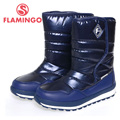 FLAMINGO high quality fashion winter children's shoes for boy 2015 new collection anti-slip waterproof snow boots 52-NC420