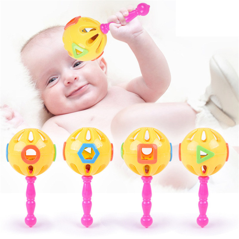 1pcs Baby Rattles Educational Toy Plastic Hand Shake Bell Ring Toys Musical font b Novelty b