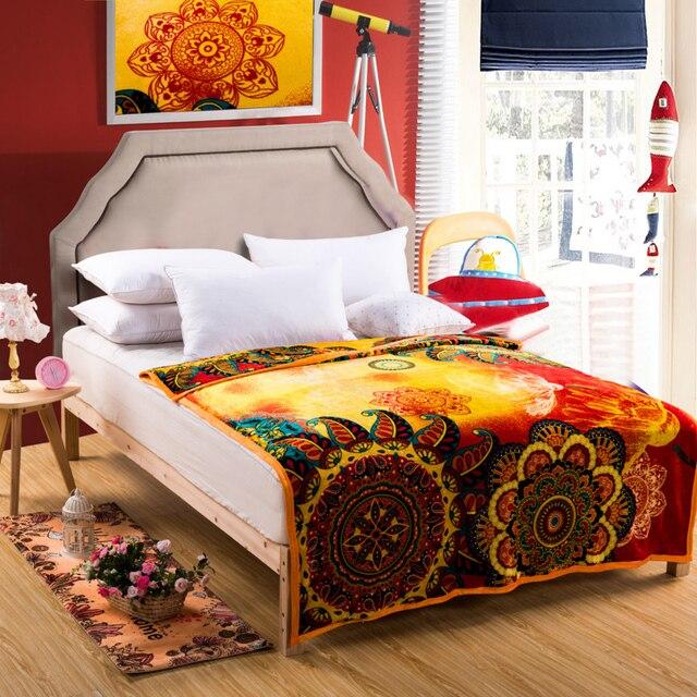 Boho Throw Blankets Extraordinary Bight Color Boho Throw Blanket Bohemia Design Breathable